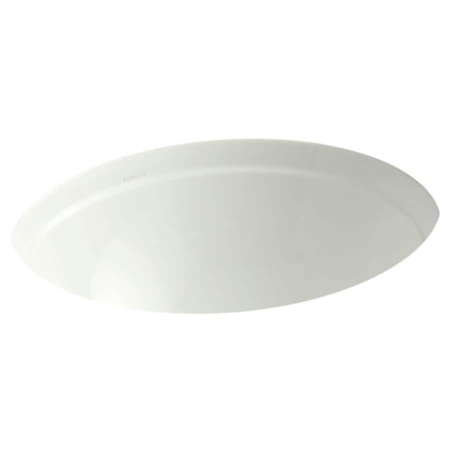 KOHLER Bancroft Dune Undermount Round Bathroom Sink with Overflow