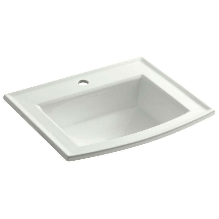 KOHLER Archer Dune Drop-in Rectangular Bathroom Sink with Overflow