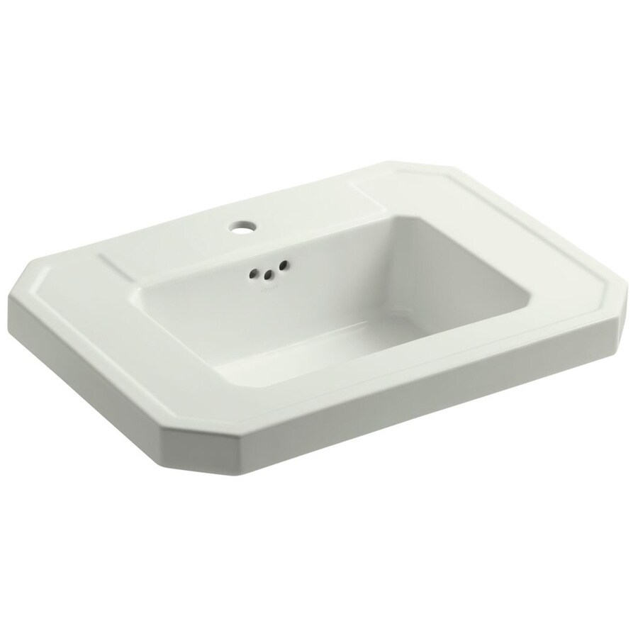 KOHLER Kathryn 27-in L x 20-in W Dune Fire Clay Rectangular Pedestal Sink Top