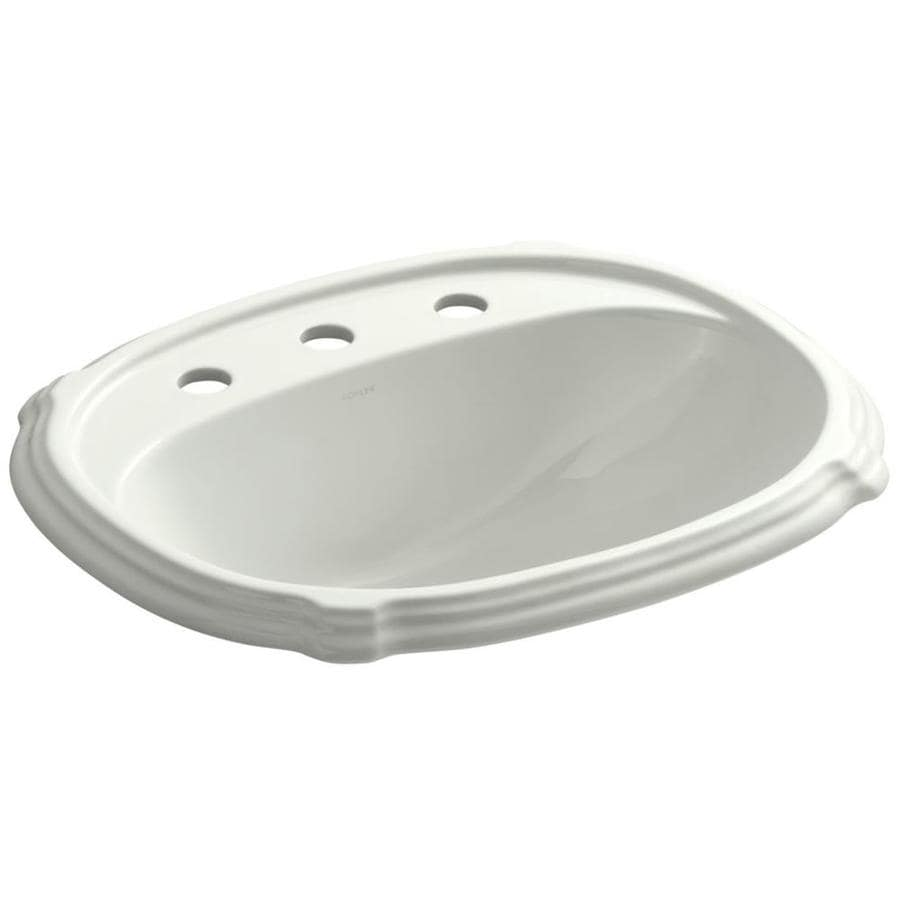 KOHLER Portrait Dune Drop-in Oval Bathroom Sink with Overflow