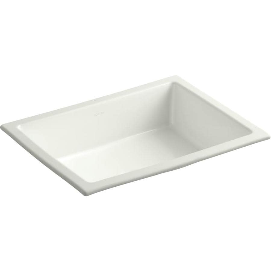 KOHLER Verticyl Dune Undermount Rectangular Bathroom Sink with Overflow