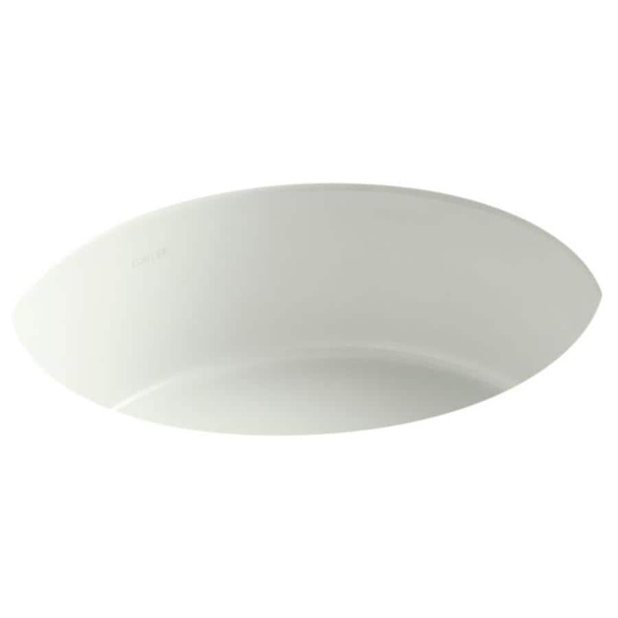 KOHLER Verticyl Dune Undermount Round Bathroom Sink with Overflow