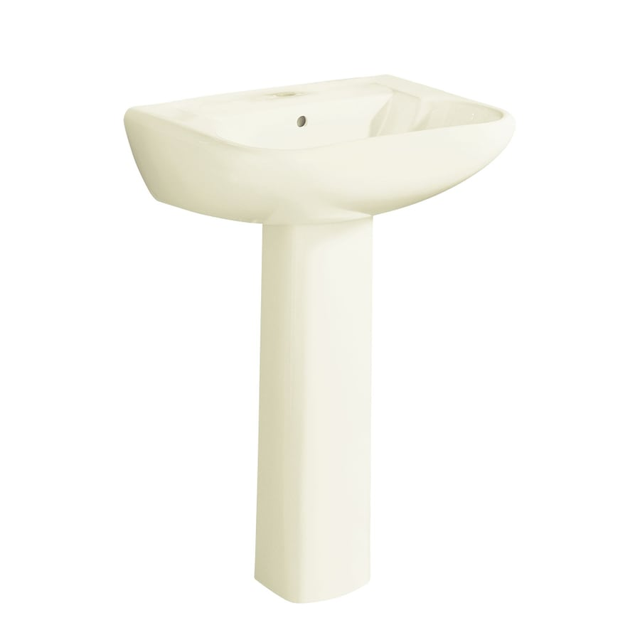 Sterling Southampton 33-in H Biscuit Vitreous China Pedestal Sink
