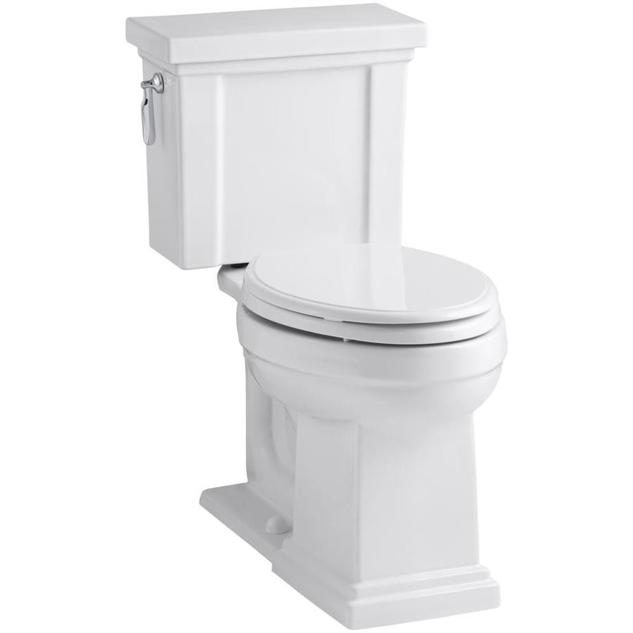 KOHLER Tresham White WaterSense Labeled  Elongated Chair Height 2-piece Toilet 12-in Rough-In Size