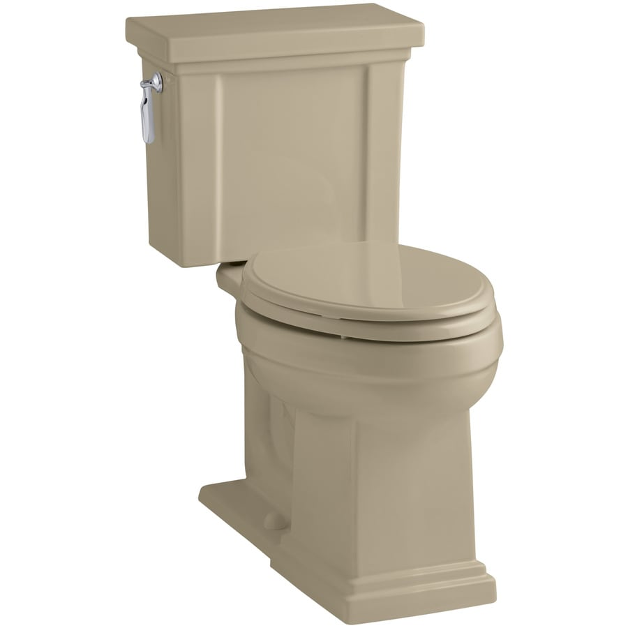 Kohler Colored Toilets : KOHLER Tresham 1.28-GPF Mexican Sand WaterSense Elongated Chair Height ...