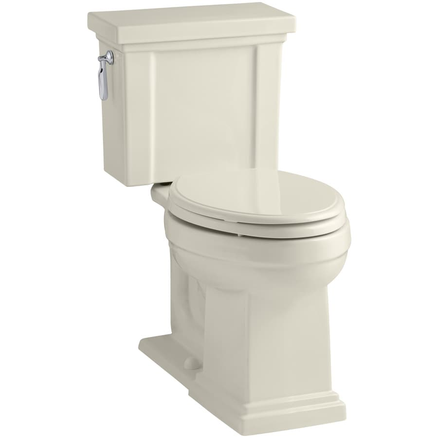 KOHLER Tresham 1.28-GPF (4.85-LPF) Almond WaterSense Elongated Chair Height 2-Piece Toilet