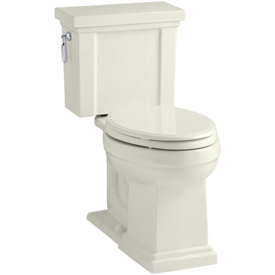 KOHLER Tresham Biscuit WaterSense Labeled  Elongated Chair Height 2-piece Toilet 12-in Rough-In Size