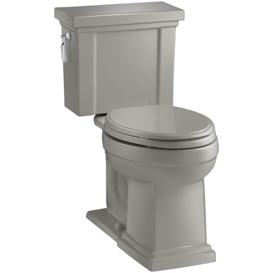 KOHLER Tresham Cashmere 1.28-GPF (4.85-LPF) 12 Rough-In WaterSense Elongated 2-Piece Chair Height Toilet