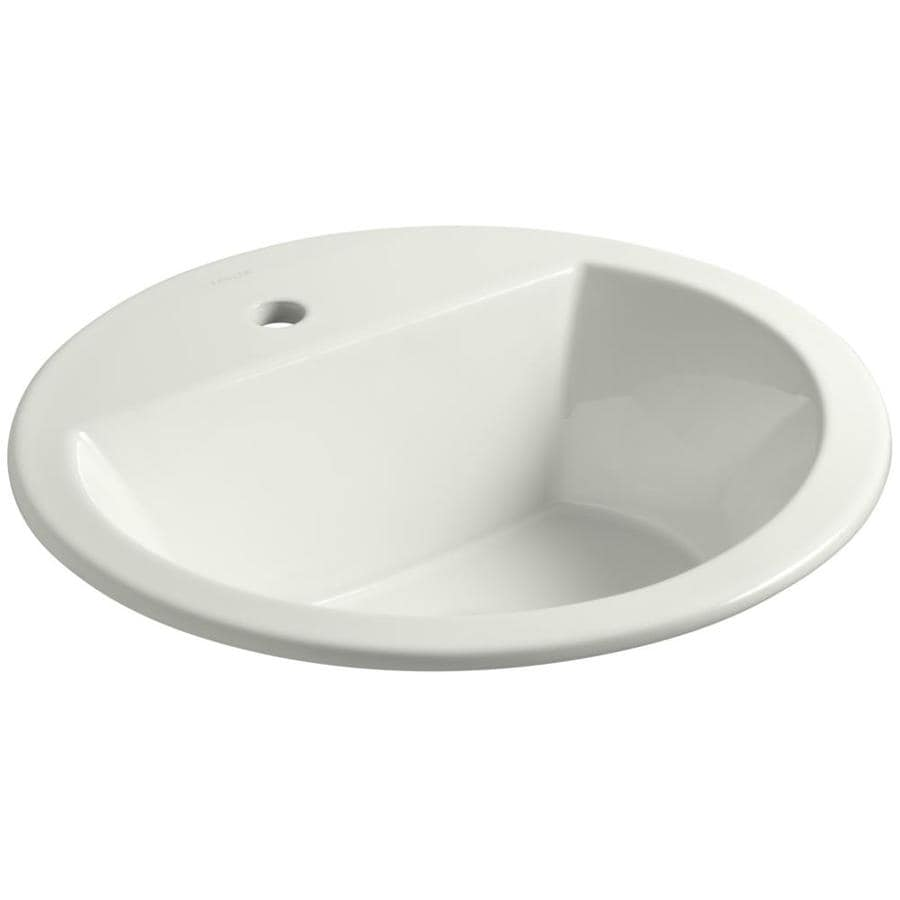 KOHLER Bryant Dune Drop-in Round Bathroom Sink with Overflow