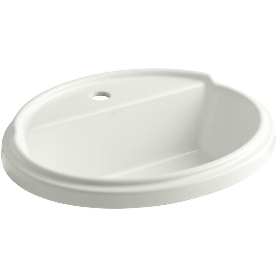 KOHLER Tresham Dune Drop-in Oval Bathroom Sink with Overflow