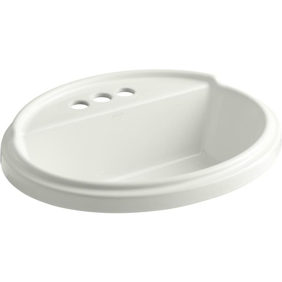 KOHLER Tresham Dune Drop-in Oval Bathroom Sink with Overflow