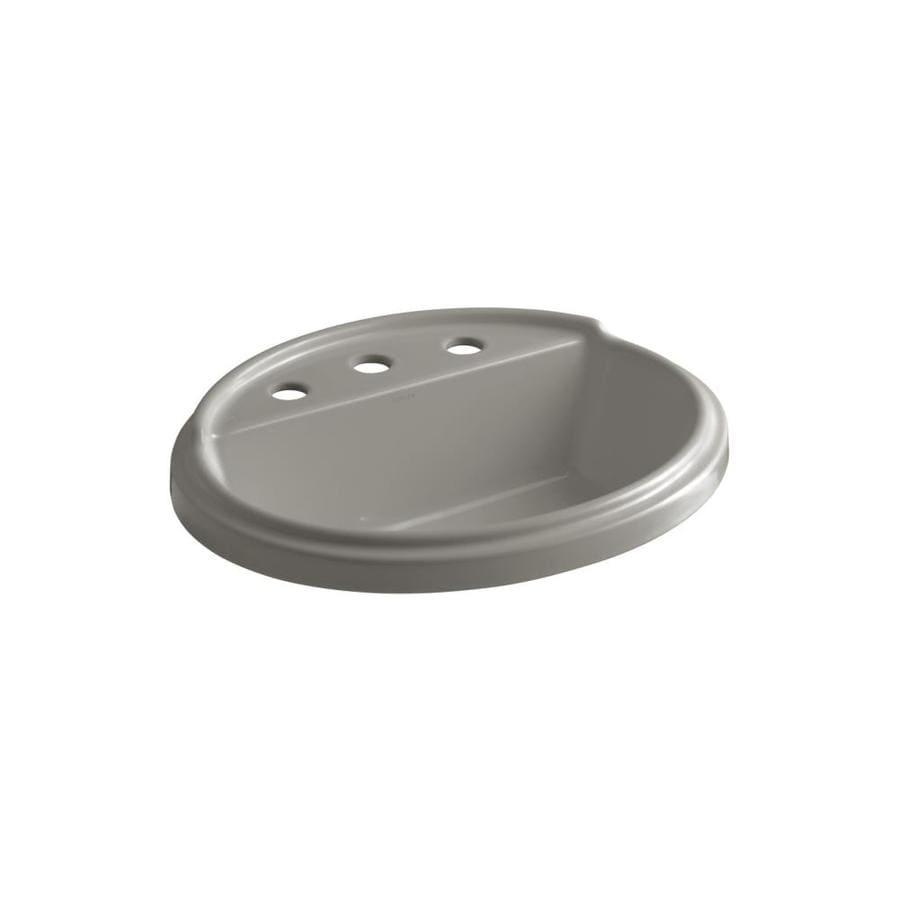 KOHLER Tresham Cashmere Drop-in Oval Bathroom Sink with Overflow