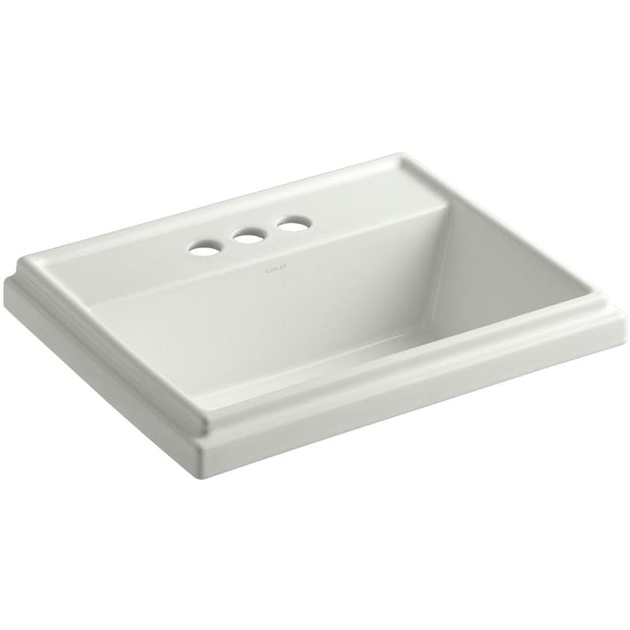 KOHLER Tresham Dune Drop-in Rectangular Bathroom Sink with Overflow