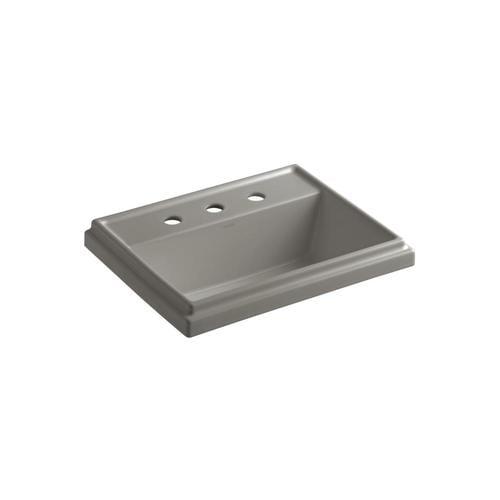 Kohler Tresham Cashmere Drop In Rectangular Bathroom Sink With Overflow Drain 21 8125 In X 16