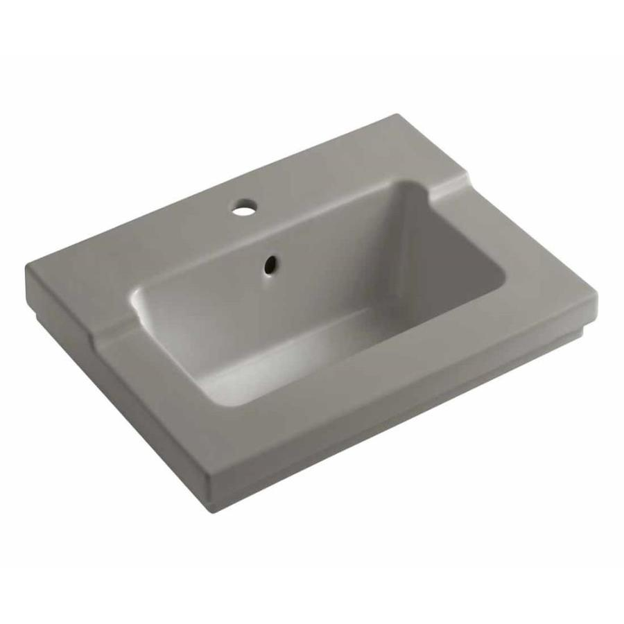 KOHLER Tresham Cashmere Vitreous China Integral Bathroom Vanity Top (Common: 20-in x 25-in; Actual: 19.0625-in x 25.4375-in)