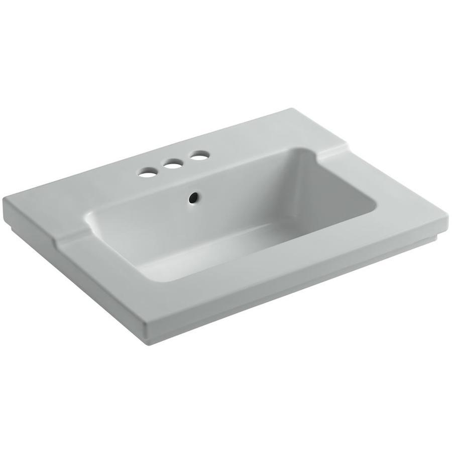 KOHLER Tresham Ice Grey Vitreous China Integral Bathroom Vanity Top (Common: 20-in x 25-in; Actual: 19.0625-in x 25.4375-in)
