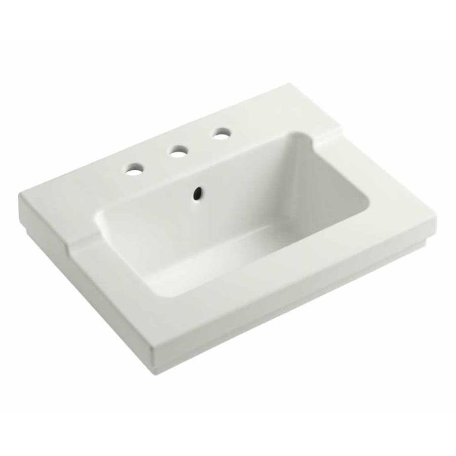 KOHLER Tresham Dune Vitreous China Integral Bathroom Vanity Top (Common: 20-in x 25-in; Actual: 19.0625-in x 25.4375-in)