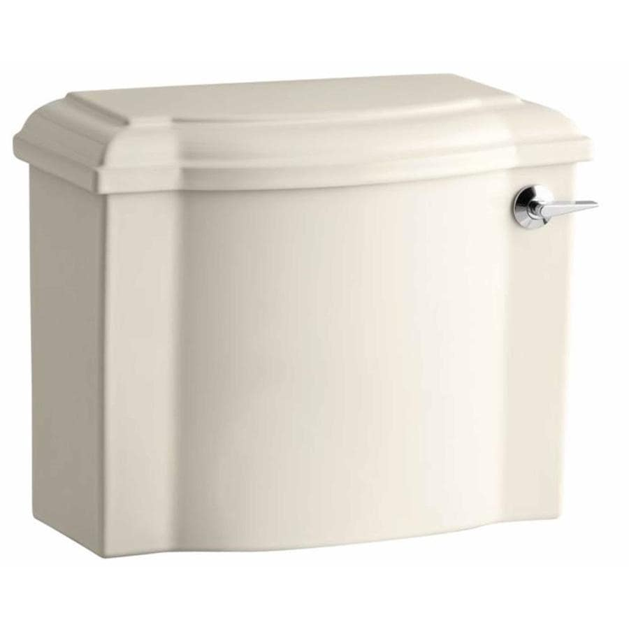 KOHLER Devonshire Almond 1.28-GPF Single-Flush High-Efficiency Toilet Tank