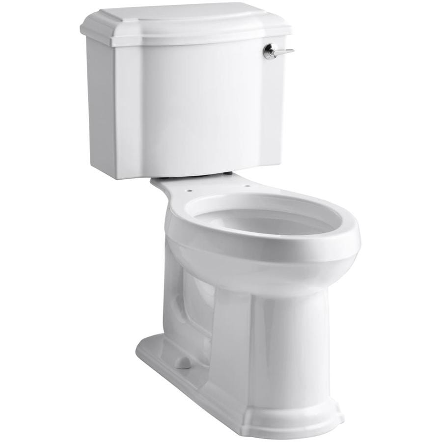 KOHLER Devonshire 1.28 White WaterSense Elongated Chair Height 2-Piece Toilet