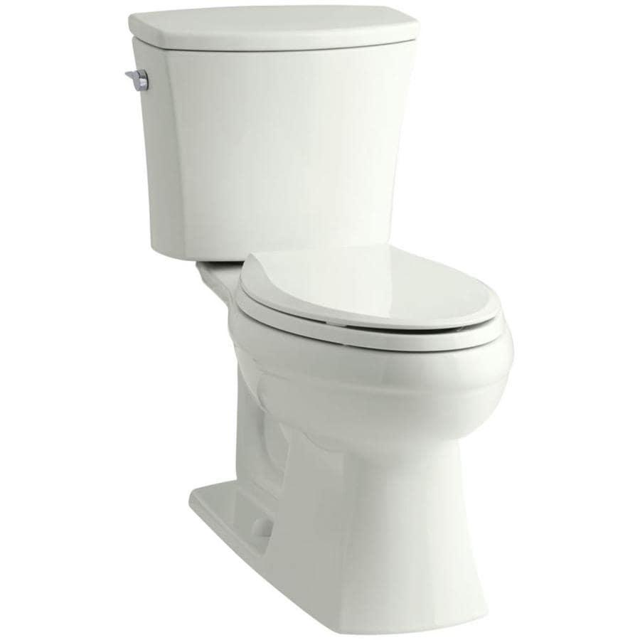 KOHLER Kelston Due WaterSense Labeled  Elongated Standard Height 2-piece Toilet 12-in Rough-In Size
