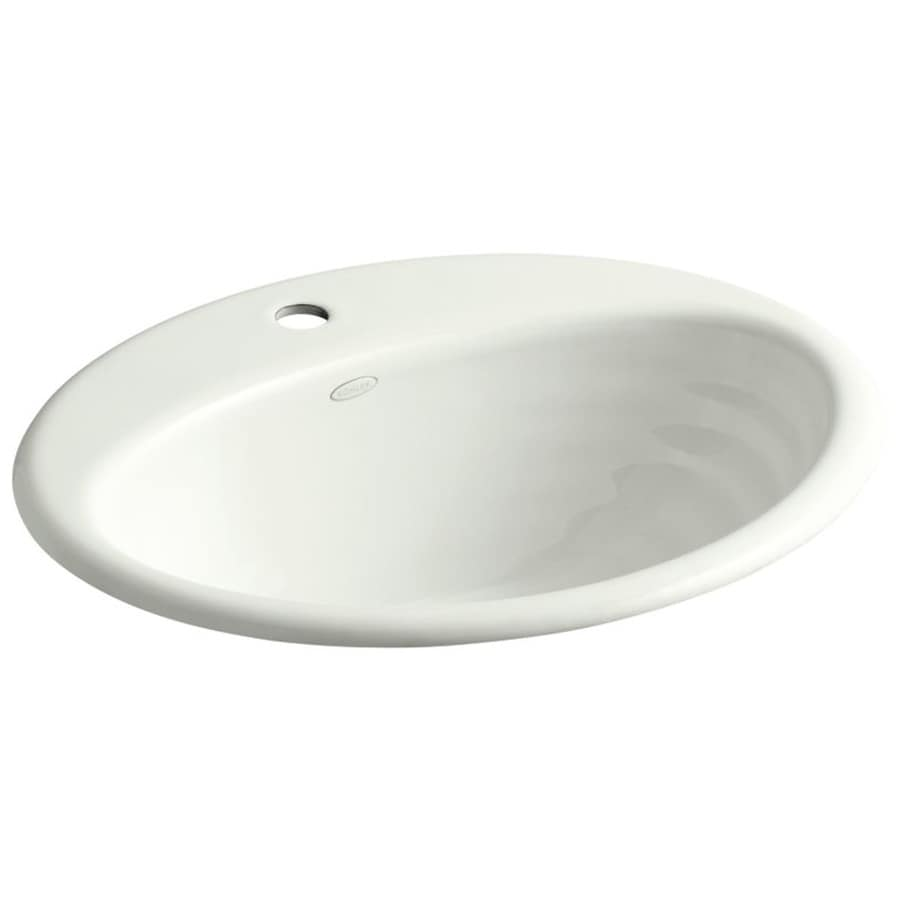 oval bathroom sinks drop in shop kohler ellington dune cast iron drop in oval bathroom 23895