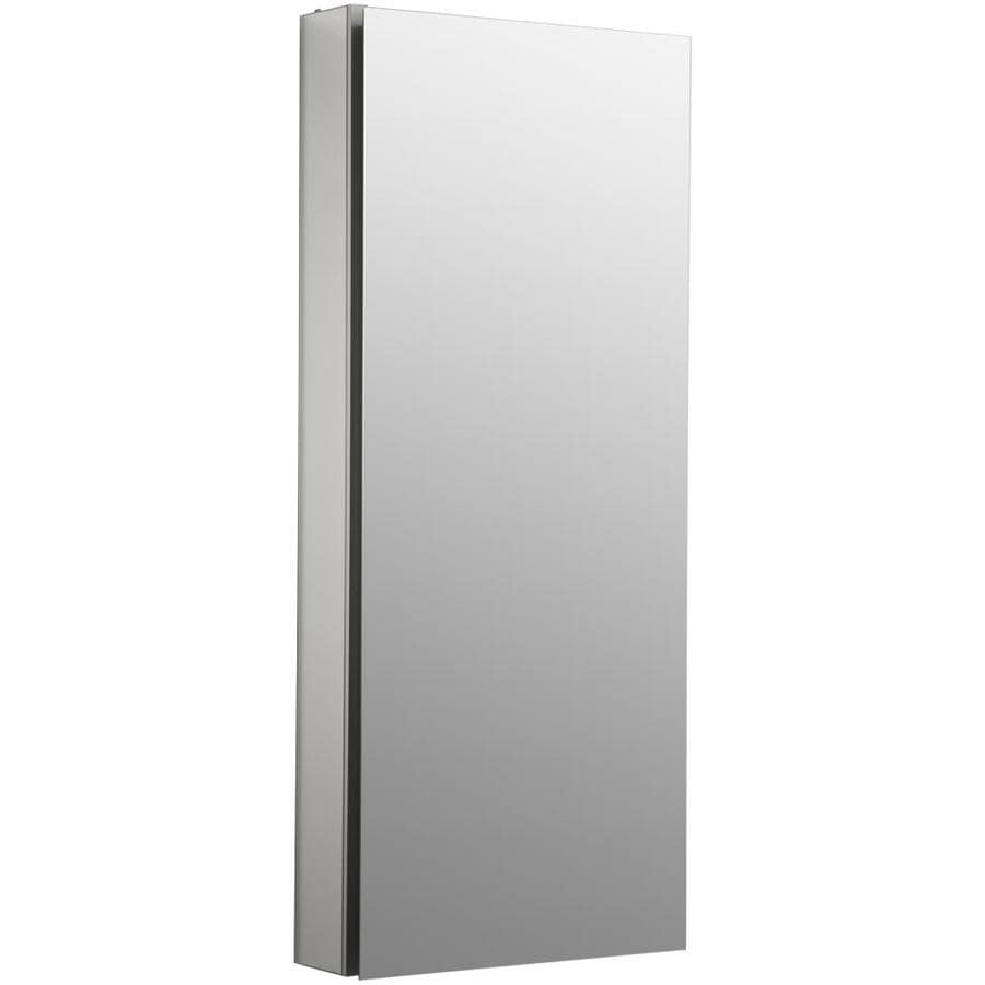 KOHLER Catalan 15-in x 36-in Rectangle Surface/Recessed Mirrored Aluminum Medicine Cabinet