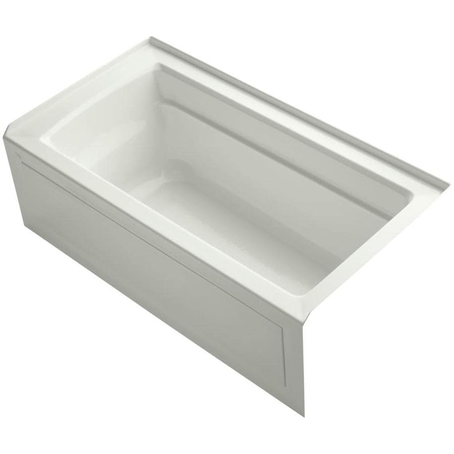 KOHLER Archer Dune Acrylic Rectangular Alcove Bathtub with Right-Hand Drain (Common: 32-in x 60-in; Actual: 19-in x 32-in x 60-in)