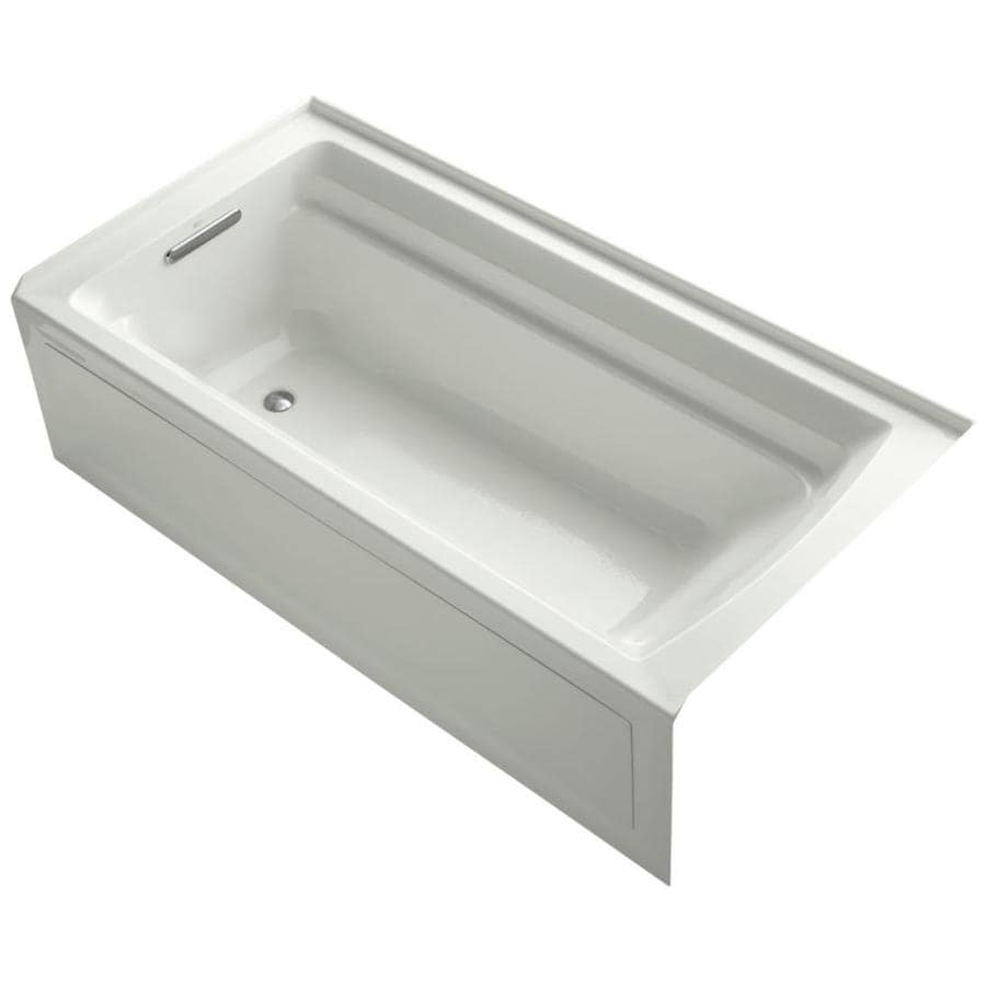 KOHLER Archer 72-in Dune Acrylic Drop-In Bathtub with Left-Hand Drain