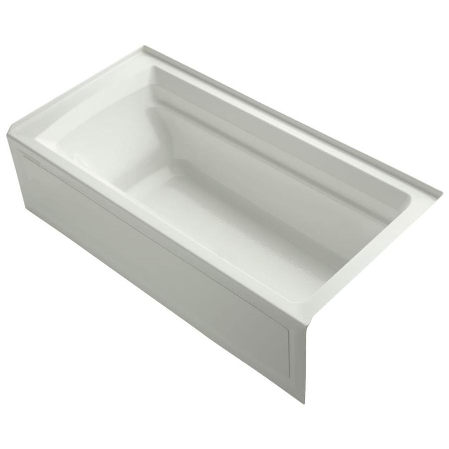KOHLER Archer Dune Acrylic Rectangular Drop-in Bathtub with Right-Hand Drain (Common: 36-in x 72-in; Actual: 19-in x 36-in x 72-in)