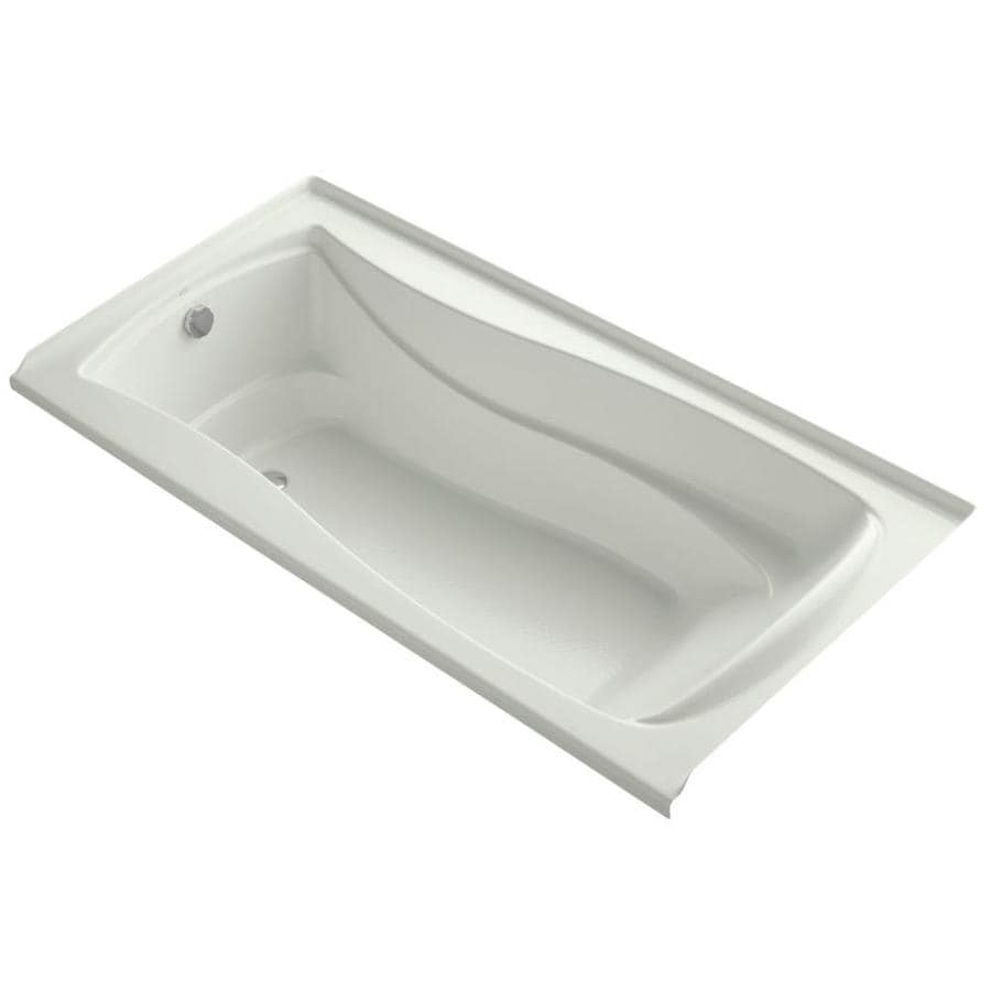 KOHLER Mariposa Dune Acrylic Hourglass In Rectangle Alcove Bathtub with Left-Hand Drain (Common: 36-in x 72-in; Actual: 20-in x 36-in x 72-in)