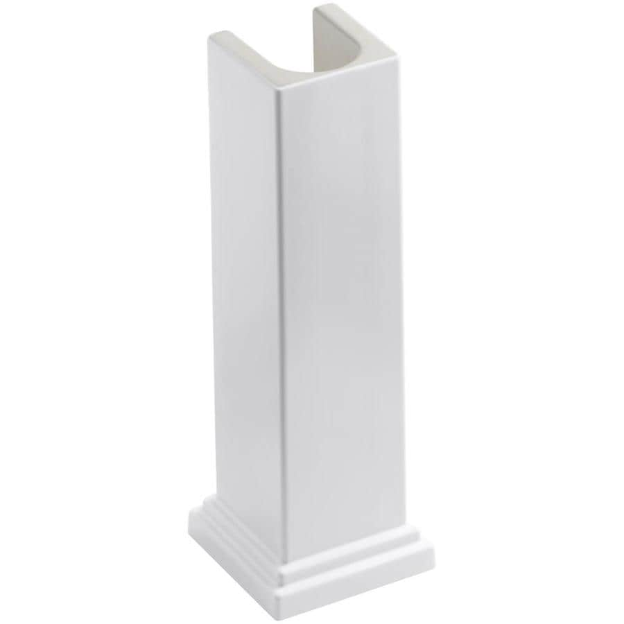 KOHLER Tresham 28-in H White Fireclay Pedestal Sink Base