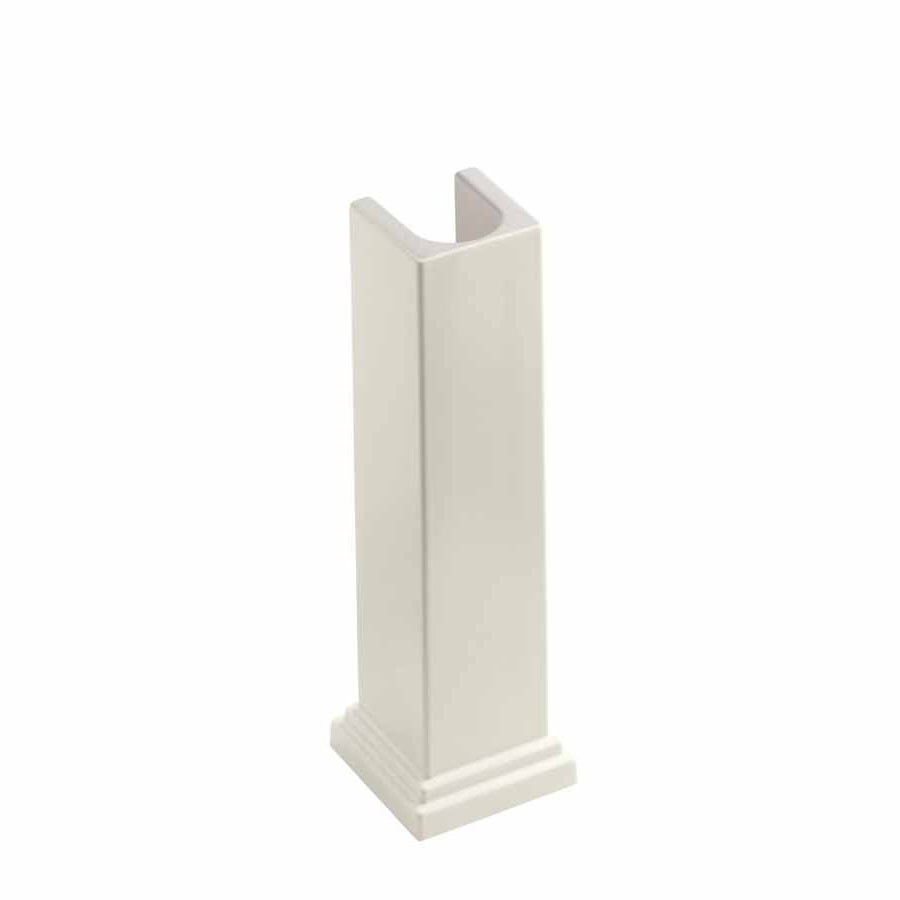 KOHLER Tresham 28-in H Biscuit Fireclay Pedestal Sink Base