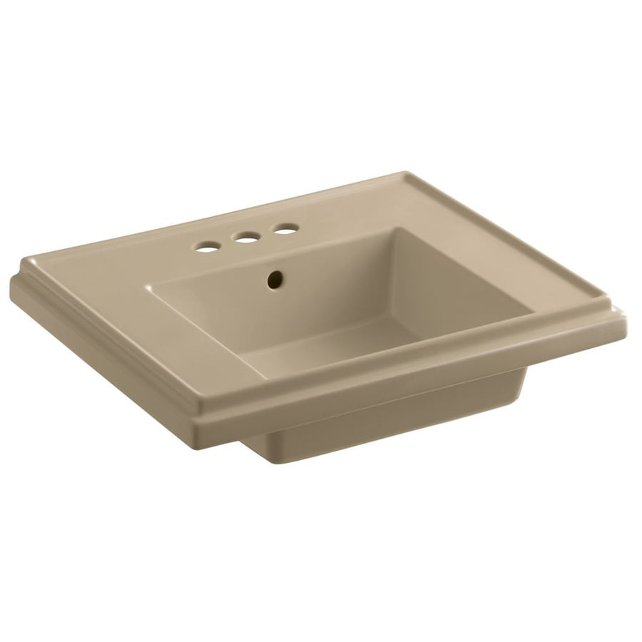 ... 19.5-in W Mexican Sand Fire Clay Square Pedestal Sink Top at Lowes.com