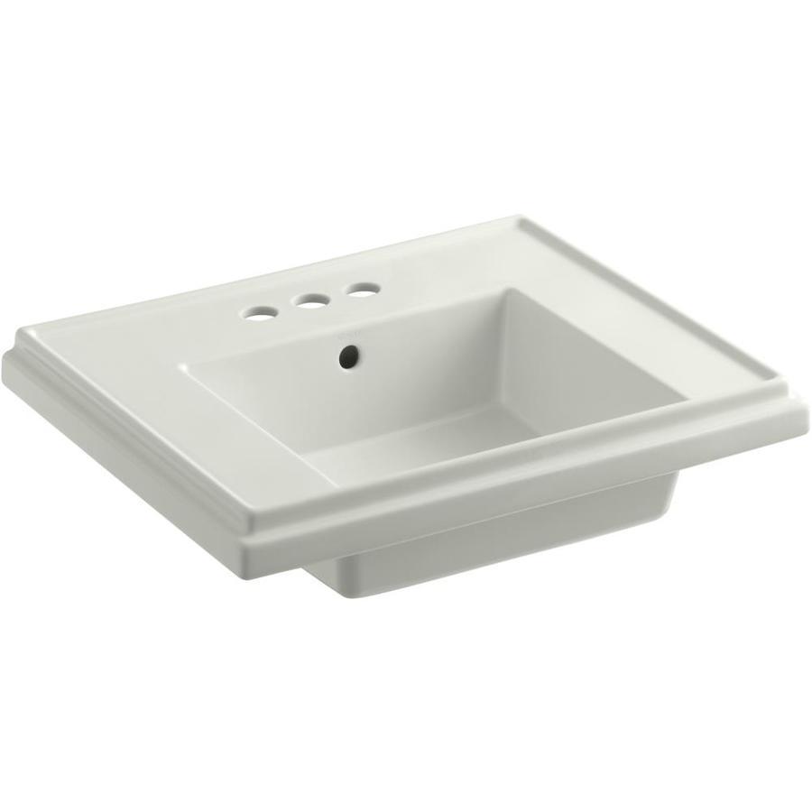 KOHLER Treshman 24-in L x 19.5-in W Dune Fire Clay Square Pedestal Sink Top