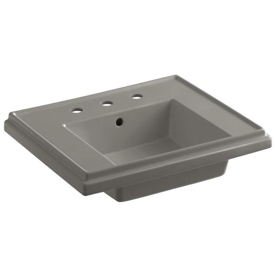 KOHLER Treshman 24-in L x 19.5-in W Cashmere Fire Clay Square Pedestal Sink Top