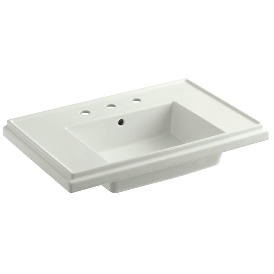 KOHLER Treshman 30-in L x 19.5-in W Dune Fire Clay Rectangular Pedestal Sink Top