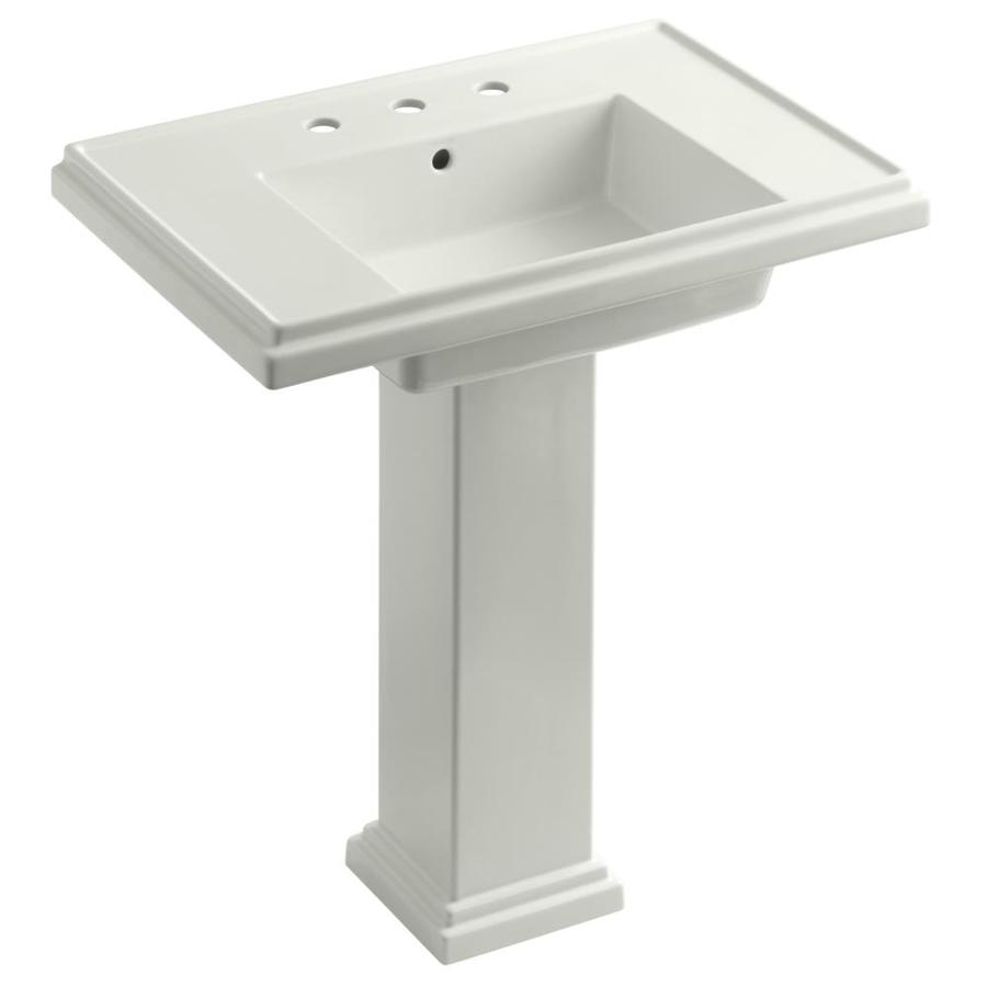 KOHLER Tresham 34.625-in H Dune Fire Clay Pedestal Sink