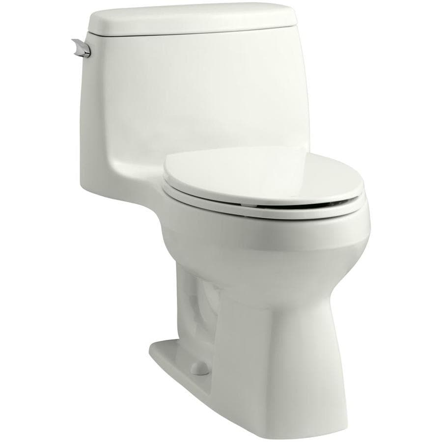 KOHLER Santa Rosa 1.28-GPF (4.85-LPF) Dune WaterSense Elongated Chair Height 1-Piece Toilet