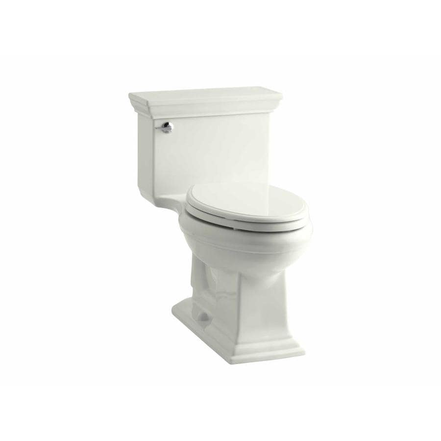 KOHLER Memoirs Dune WaterSense Labeled  Elongated Chair Height 1-piece Toilet 12-in Rough-In Size