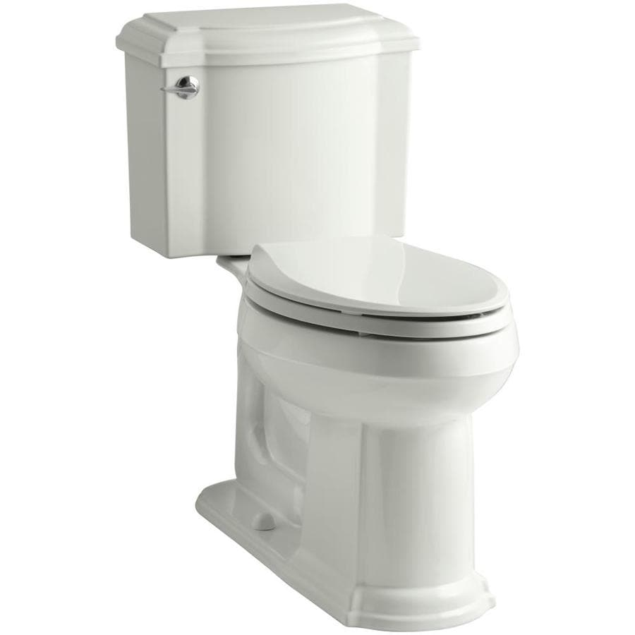 KOHLER Devonshire 1.28-GPF Dune WaterSense Elongated Chair Height 2-Piece Toilet