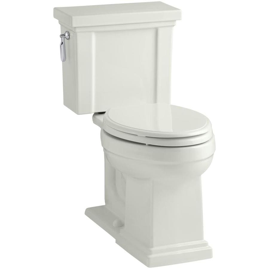 KOHLER Tresham 1.28-GPF (4.85-LPF) Dune WaterSense Elongated Chair Height 2-Piece Toilet