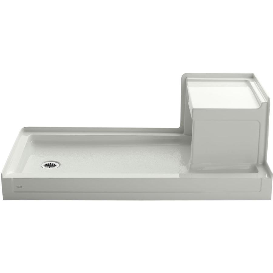 KOHLER Tresham Dune Acrylic Shower Base (Common: 32-in W x 60-in L; Actual: 32-in W x 60-in L) with Left Drain