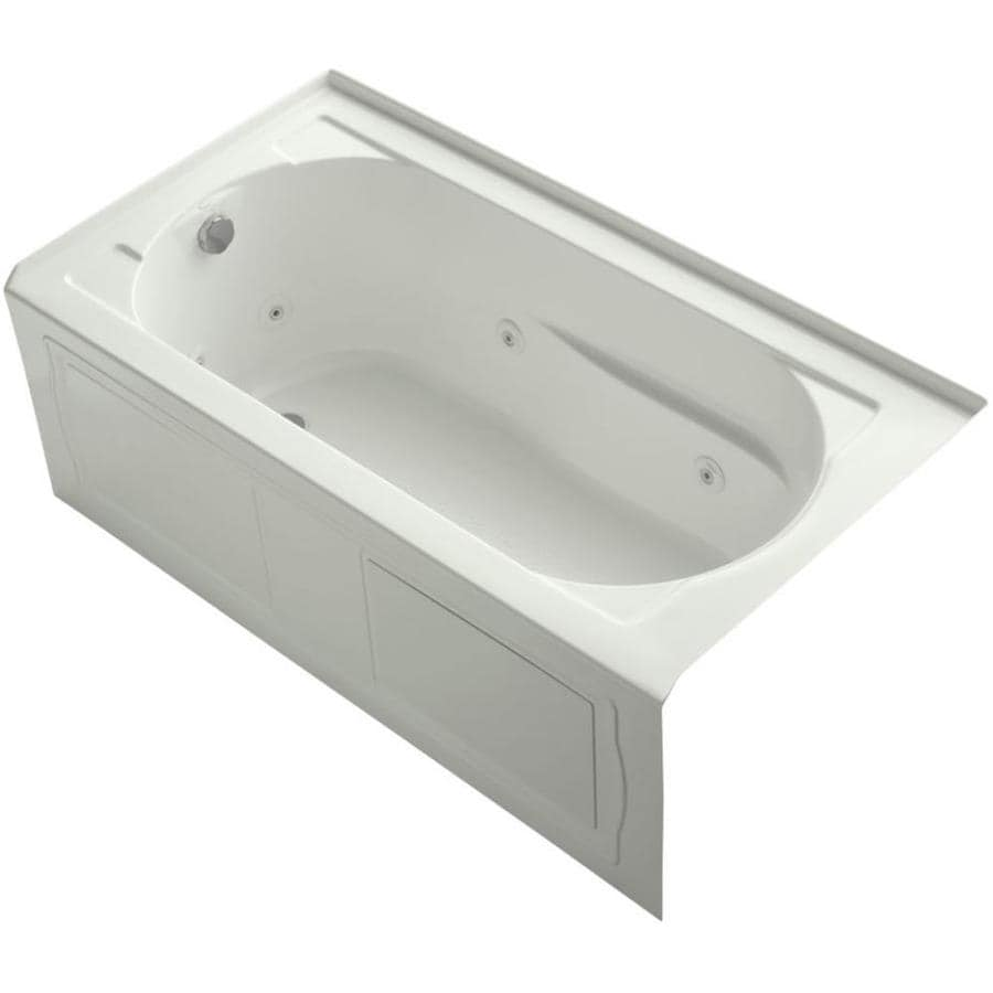 KOHLER Devonshire Dune Acrylic Rectangular Whirlpool Tub (Common: 32-in x 60-in; Actual: 20-in x 32-in x 60-in)