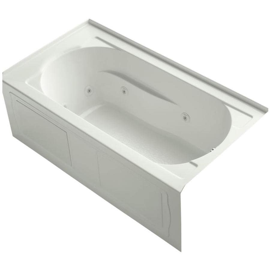 KOHLER Devonshire Dune Acrylic Rectangular Alcove Whirlpool Tub (Common: 32-in x 60-in; Actual: 20-in x 32-in x 60-in)