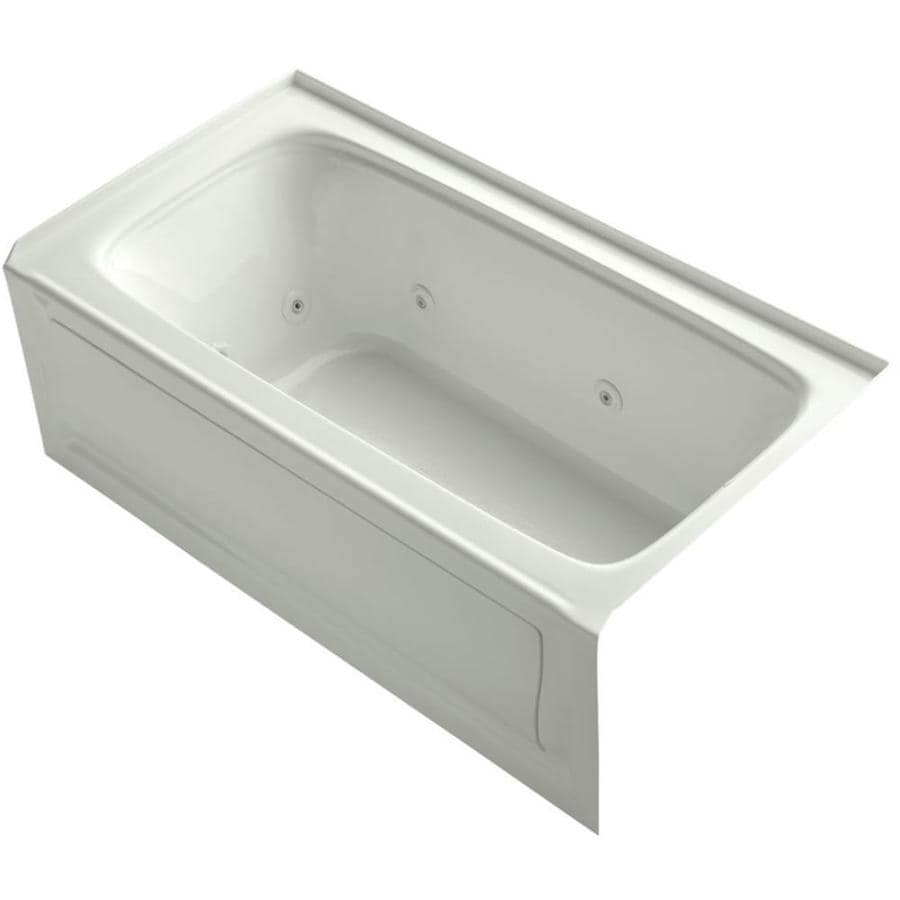 KOHLER Bancroft 60-in Dune Acrylic Alcove Whirlpool Tub with Right-Hand Drain