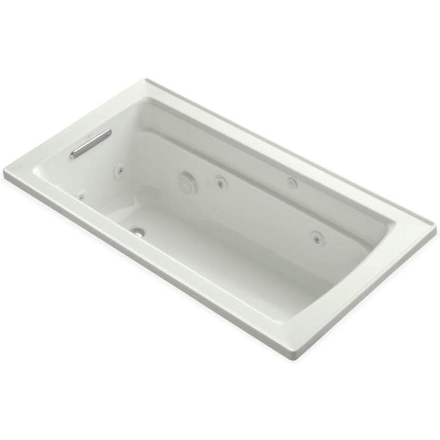 KOHLER Archer Dune Acrylic Rectangular Drop-in Whirlpool Tub (Common: 32-in x 60-in; Actual: 19-in x 32-in x 60-in)