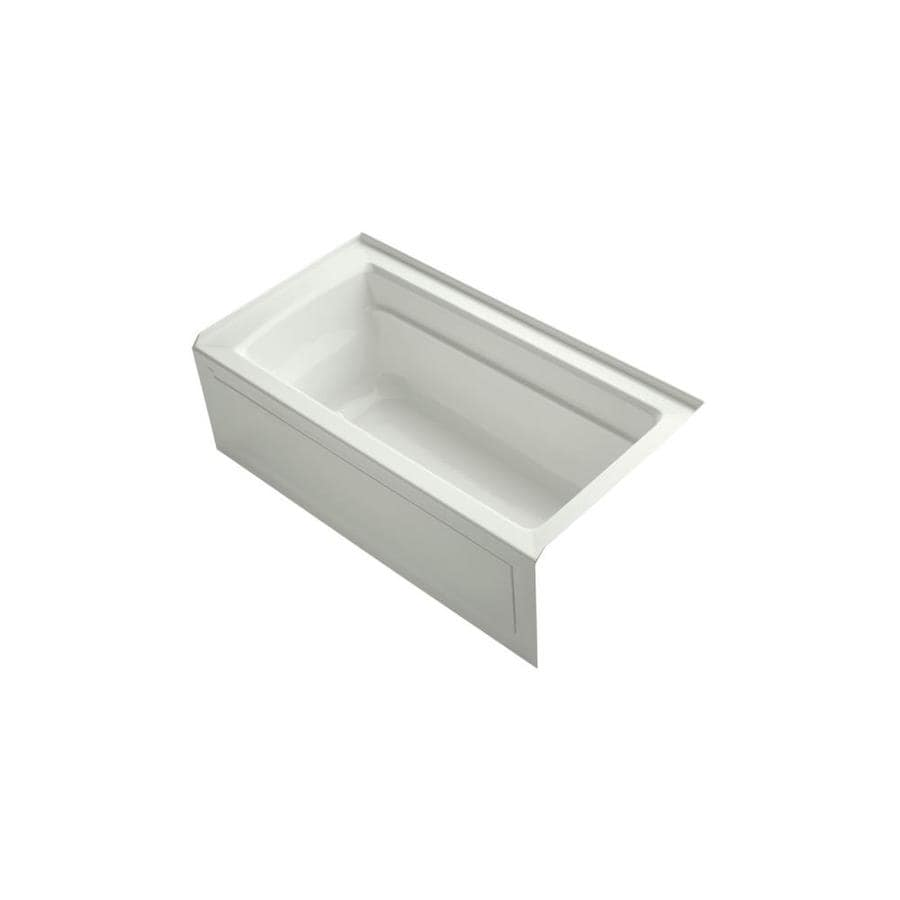 KOHLER Archer 60-in Dune Acrylic Drop-In Air Bath with Right-Hand Drain