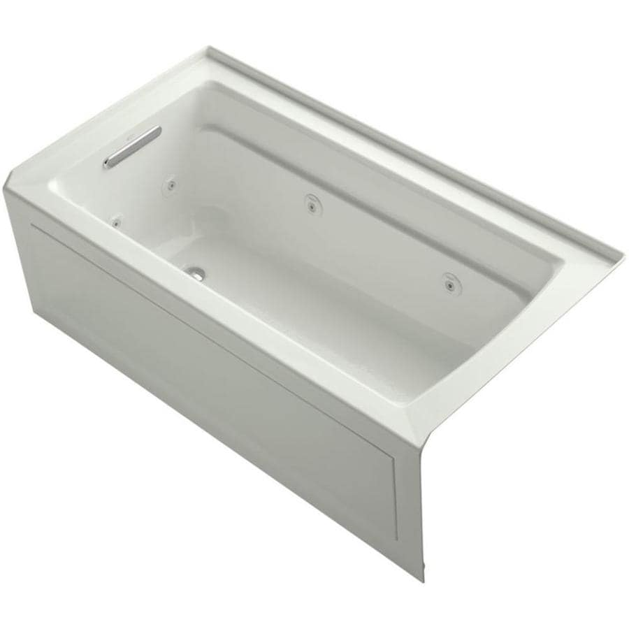 KOHLER Archer 60-in Dune Acrylic Skirted Whirlpool Tub with Left-Hand Drain
