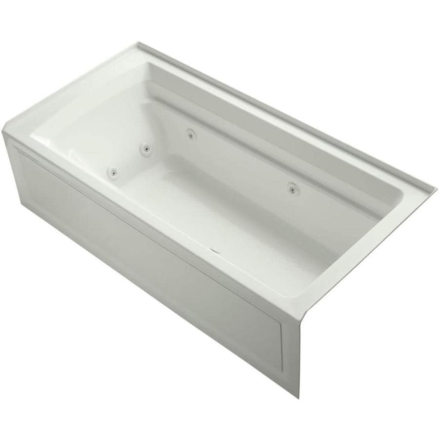 KOHLER Archer Dune Acrylic Rectangular Alcove Whirlpool Tub (Common: 36-in x 72-in; Actual: 19-in x 36-in x 72-in)