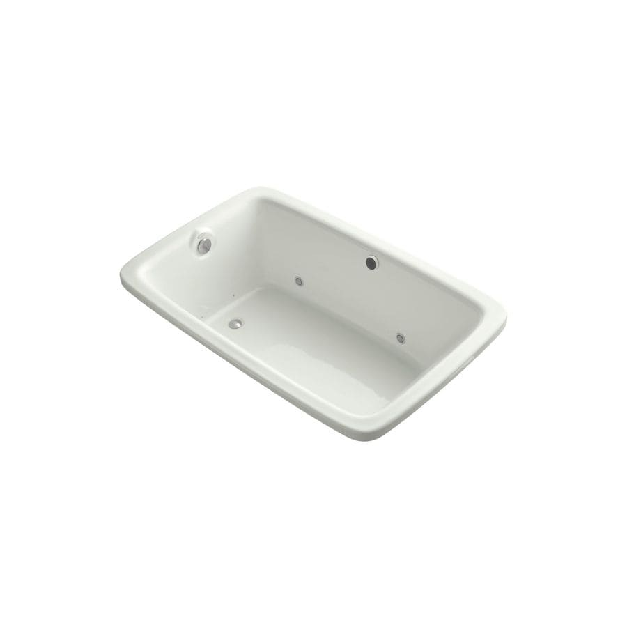 KOHLER Bancroft 65.0625-in Dune Acrylic Drop-In Air Bath with Reversible Drain